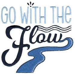 Go With The Flow embroidery design