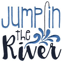 Jump In The River embroidery design