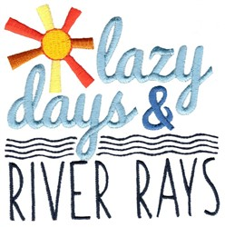 Lazy Days And River Rays embroidery design