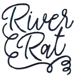 River Rat embroidery design