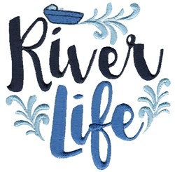 River Life embroidery design