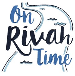 On Rivah Time embroidery design