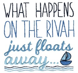 It Just Floats Away embroidery design