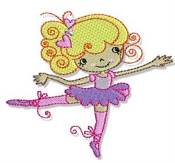 Ballet Cutie embroidery design