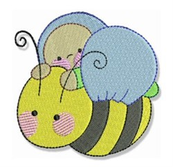 Bubbaboo In Spring & Bee embroidery design