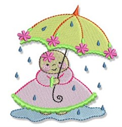 Bubbaboo In Spring Rain embroidery design
