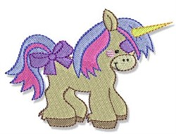 Pretty Pony Unicorn embroidery design