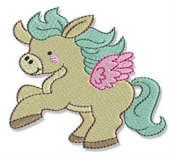 Pretty Pony Pegasus embroidery design