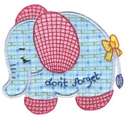Sweet Inspirations Elephant Applique embroidery design