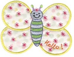 Sweet Inspirations Butterfly Applique embroidery design