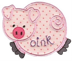 Sweet Inspirations Pig Applique embroidery design