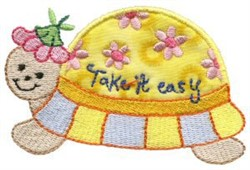Sweet Inspirations Turtle Applique embroidery design