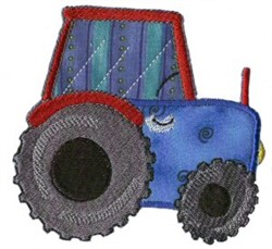 Applique Boys Toy Tractor embroidery design