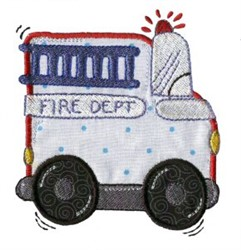Applique Boys Toy Fire Department embroidery design