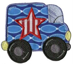 Applique Boys Toy Truck embroidery design