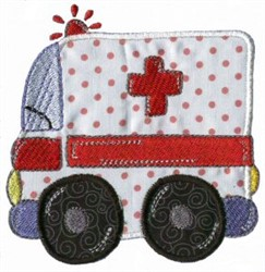 Applique Boys Toy Ambulance embroidery design