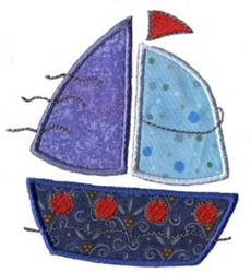 Applique Boys Toy Boat embroidery design