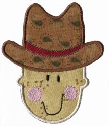 Applique Boys Toy Cowboy embroidery design