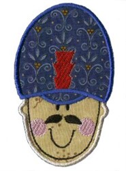 Applique Boys Toy Drummer embroidery design