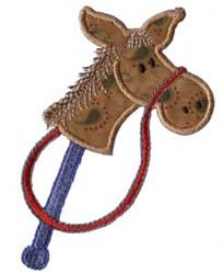 Applique Boys Toy Hobby Horse embroidery design