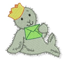 Cute Christmas Seal embroidery design