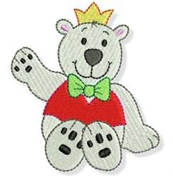 Cute Christmas Bear embroidery design