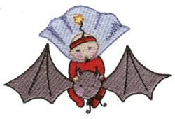 Kid On Bat embroidery design