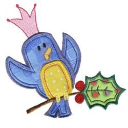 Christmas Blue Bird embroidery design