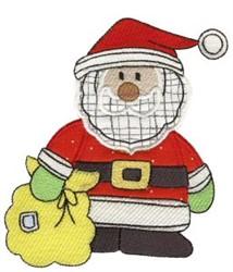 Christmas Santa embroidery design