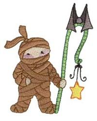 Mummy & Bat embroidery design