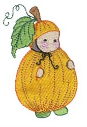 Pumpkin Costume embroidery design
