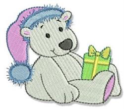 Holiday Polar Bear embroidery design