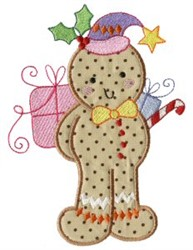 Holiday Gingerbread embroidery design