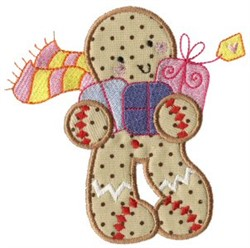 Christmas Gingerbread embroidery design