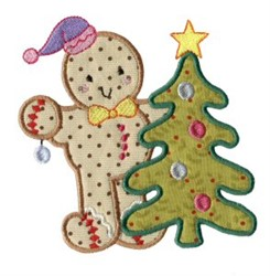 Gingerbread & Tree embroidery design