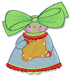 Gift Kid embroidery design