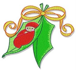 Holly Baby embroidery design