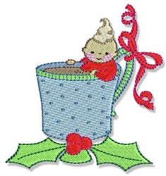 Hot Cocoa Kid embroidery design