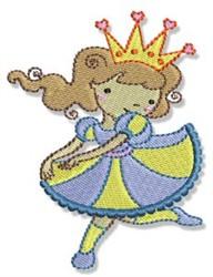 Princess Girl embroidery design