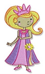 Girl Princess embroidery design