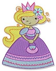 Blonde Princess embroidery design