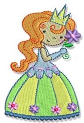 Flower Princess embroidery design