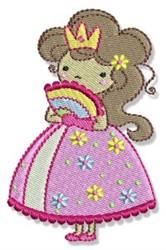 Fan Princess embroidery design