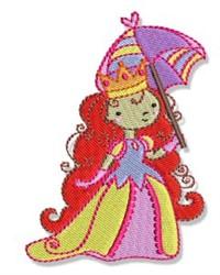 Umbrella Princess embroidery design