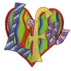Life Heart embroidery design