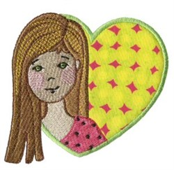 Heart Girl embroidery design