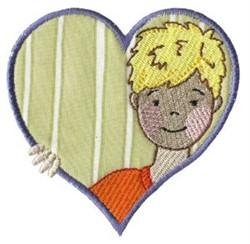 Boy Heart embroidery design