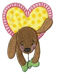 Dog Heart embroidery design