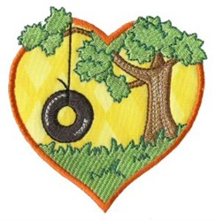 Tire Swing embroidery design