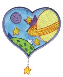 Love Planets embroidery design